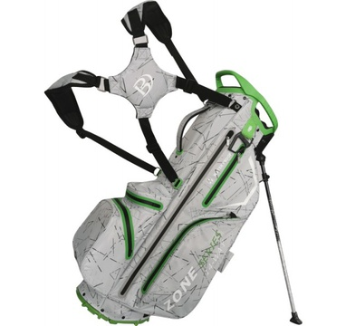 TimeForGolf - Bennington Stand bag ZONE Waterproof Silver Flash / Lime