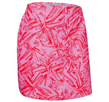 TimeForGolf - Under Armour W sukně Links Woven Printed červeno růžová 4