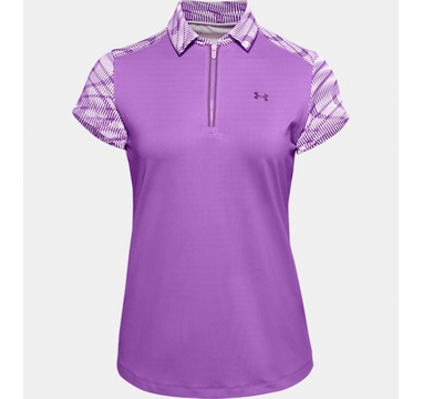 TimeForGolf - Under Armour W polo Zinger Zip SS fialové