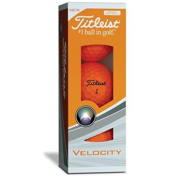 TimeForGolf - Titleist ball Velocity Orange (oranžový) 2018 3ks