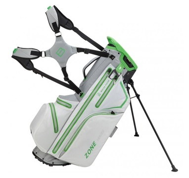 TimeForGolf - Bennington Stand bag ZONE Waterproof White / Silver / Lime
