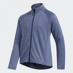 Time For Golf - Adidas Jr bunda Heathered Full Zip tmavě modrá 152