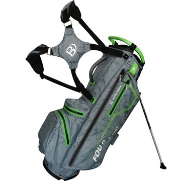 TimeForGolf - Bennington Stand bag FOUR 4 Waterproof Canon Grey Flash / Lime
