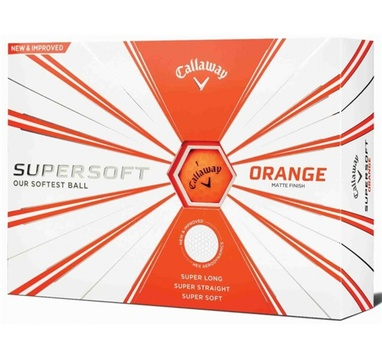 TimeForGolf - Callaway balls Supersoft Matte Orange (oranžový) 2-plášťový 3ks