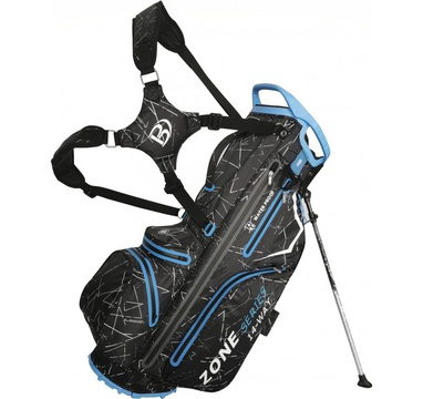 TimeForGolf - Bennington Stand bag ZONE Waterproof Black Flash / Cobalt