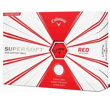 TimeForGolf - Callaway balls Supersoft Matte Red (červený) 2-plášťový 3ks