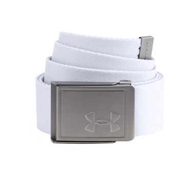 TimeForGolf - Under Armour pásek Webbing 2.0 bílo šedý