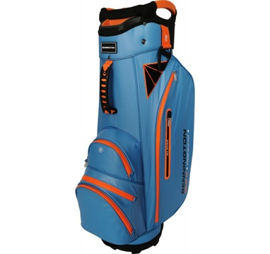 TimeForGolf - Bennington Cart Bag DOJO 14 Water Resistant Cobalt / Orange