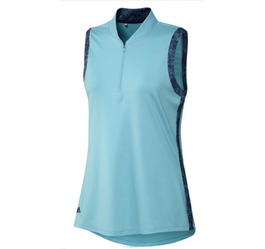 TimeForGolf - Adidas W polo Ultimate365 Printed Sleeveless - modré XS