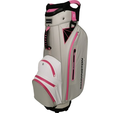 TimeForGolf - Bennington Cart Bag DOJO 14 Water Resistant Grey / White / Pink