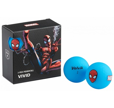 TimeForGolf - VOLVIK ball Vivid Marvel Spider Man Square 4 balls