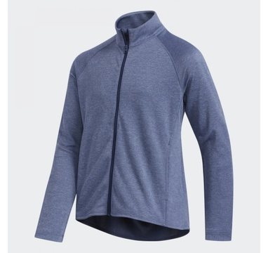 TimeForGolf - Adidas Jr bunda Heathered Full Zip tmavě modrá