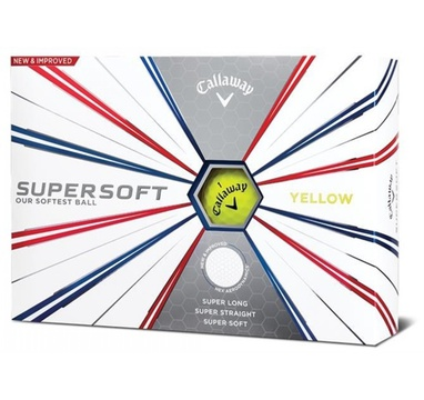 TimeForGolf - Callaway balls Supersoft 19 Yellow (žlutý) 2-plášťový 3ks