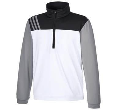 TimeForGolf - Adidas Jr mikina Fashion 3 Stripes bílo černo šedá 8 let 128