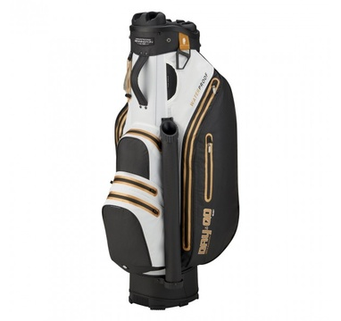 TimeForGolf - Bennington Cart Bag Dry QO 9 Waterproof Black / White / Gold