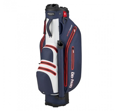 TimeForGolf - Bennington Cart Bag Dry QO 9 Waterproof Navy / White / Red
