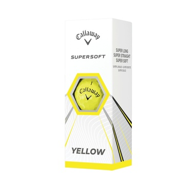 TimeForGolf - Callaway balls Supersoft 21 Yellow (žluté) 2-plášťové 3ks