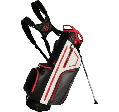 TimeForGolf - Bennington Stand bag TANTO 14 Water Resistant Black / White / Red