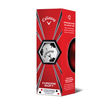 TimeForGolf - Callaway balls Chrome Soft TRUVIS 18 4-plášťový 3ks SUITS