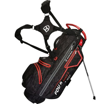 TimeForGolf - Bennington Stand bag FOUR 4 Waterproof Black Camo / Red