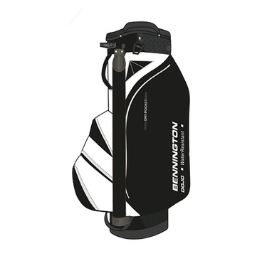 TimeForGolf - Bennington Cart Bag DOJO 14 Water Resistant Black / White