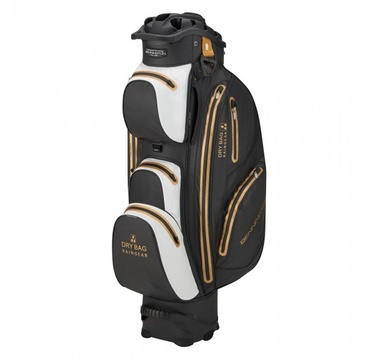 TimeForGolf - Bennington Cart Bag Sport QO 14 Waterproof Black / White / Gold