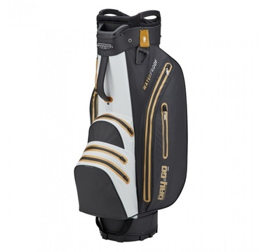 TimeForGolf - Bennington Cart Bag Dry 14+1 GO Waterproof Black / White / Gold