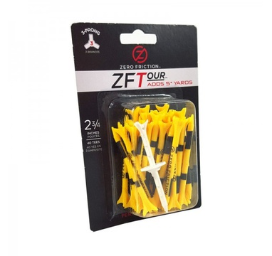 "TimeForGolf - Zero Friction golfové tee, 3 hroty, 2-3/4"", balení 40ks, Yellow"