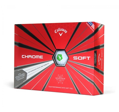TimeForGolf - Callaway balls Chrome Soft TRUVIS 18 4-plášťový 3ks FLASH