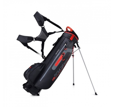 TimeForGolf - Bennington Stand bag Mini Waterproof Black/Grey/Red