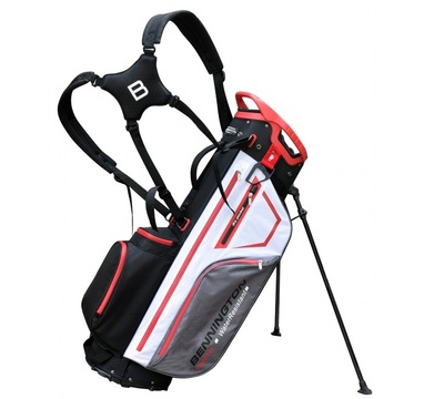 TimeForGolf - Bennington Stand bag TANTO 14 Water Resistant Black / White / Grey / Red
