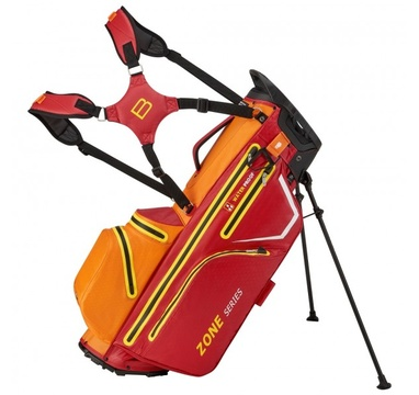 TimeForGolf - Bennington Stand bag ZONE Waterproof Red / Orange / White