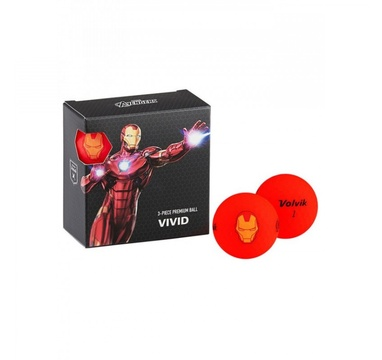 TimeForGolf - VOLVIK ball Vivid Marvel Iron Man Square 4 balls