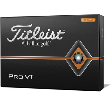 TimeForGolf - Titleist ball PRO V1 12ks High Numbers 5,6,7,8    2019