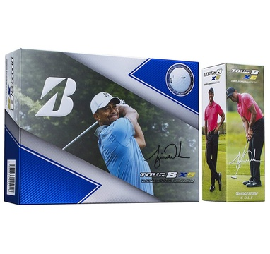TimeForGolf - Bridgestone balls Tour B XS Limited Edition - Tiger Woods 4-plášťové 12ks