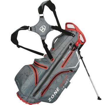 TimeForGolf - Bennington Stand bag ZONE Waterproof Canon Grey Flash / Red