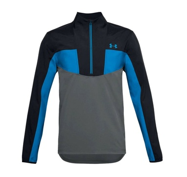 TimeForGolf - Under Armour mikina Storm Windstrike 1/2 Zip černo šedo modrá