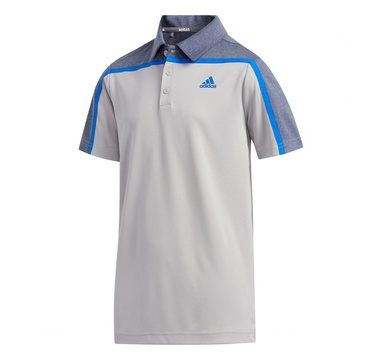 TimeForGolf - Adidas Jr polo Heather Block šedé