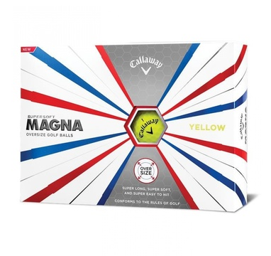 TimeForGolf - Callaway balls Supersoft Magna Yellow (žlutý) 2-plášťový 3ks
