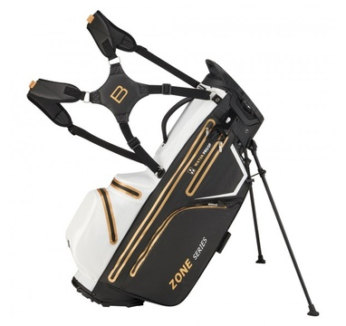 TimeForGolf - Bennington Stand bag ZONE Waterproof Black / White / Gold