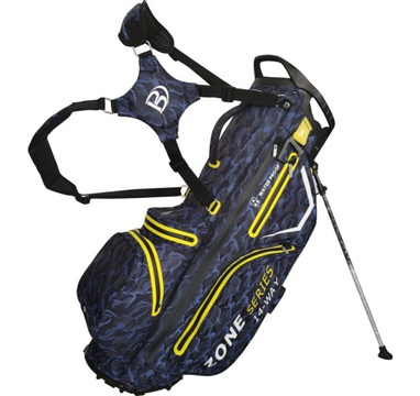 TimeForGolf - Bennington Stand bag ZONE Waterproof Blue Camo / Yellow