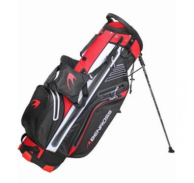 TimeForGolf - Benross bag stand HTX Comp Waterproof černo červený