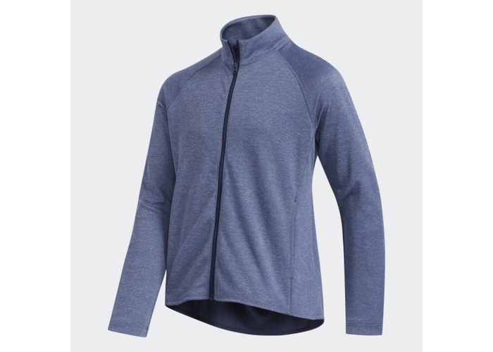 TimeForGolf - Adidas Jr bunda Heathered Full Zip tmavě modrá 152