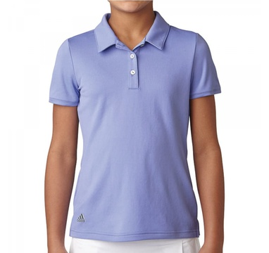 TimeForGolf - Adidas Jr polo girls Solid fialové