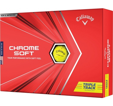 TimeForGolf - Callaway balls Chrome Soft TRIPLE TRACK 20 Yellow (žluté) 4-plášťové 3ks