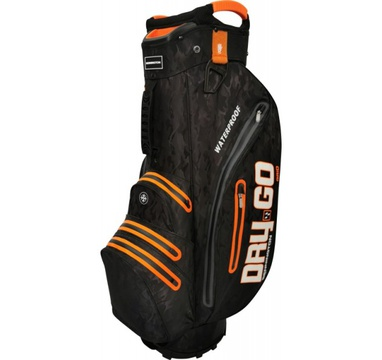 TimeForGolf - Bennington Cart Bag Dry 14+1 GO Waterproof Black Camo / Orange