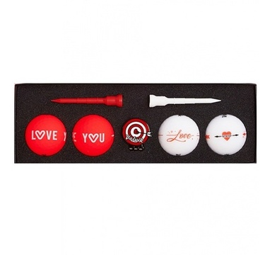 TimeForGolf - VOLVIK ball Vivid Love Pack 4 balls + ball marker + tees