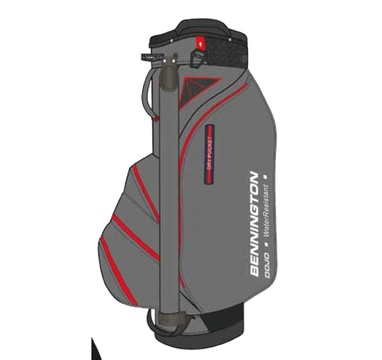 TimeForGolf - Bennington Cart Bag DOJO 14 Water Resistant Dark Grey / Red