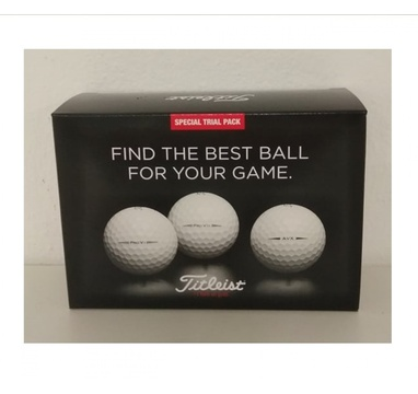 TimeForGolf - Titleist ball Trial Pack (Pro V1+Pro V1x+AVX) 6ks   2019