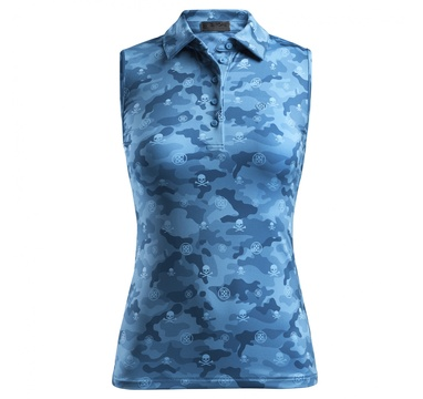 TimeForGolf - G/FORE W polo Icon Camo Sleeveless - modré XS